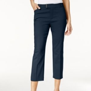 Charter Club Size 12 Navy Extended-Tab Capri Pants